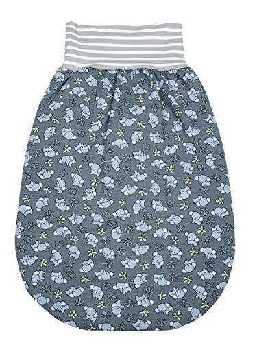 Odenwälder BabyNest Baby Strampelsack | Baby Schlafsack | Sommer Strampelsack Pucksack 100% Baumwolle | Schlafsack Baby 0-6 Monate | Schlupfsack aus Bio-Baumwolle | Made in Germany