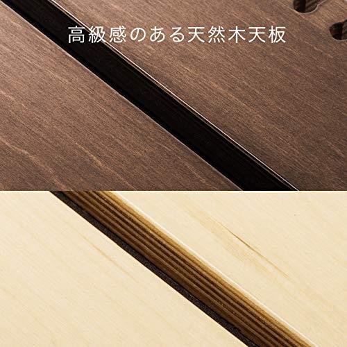 サンワダイレクト壁寄せ充電スタンドサイドテーブルUSB充電器収納高さ90cm天然木ホワイト200-STN032W