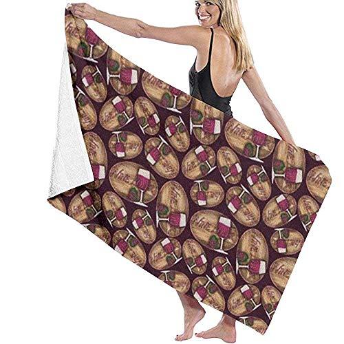 Niet toepassbare rode wijn chocolade badhanddoek persoonlijkheid zwembad water grote badhanddoek 31,5 'X 51,2'