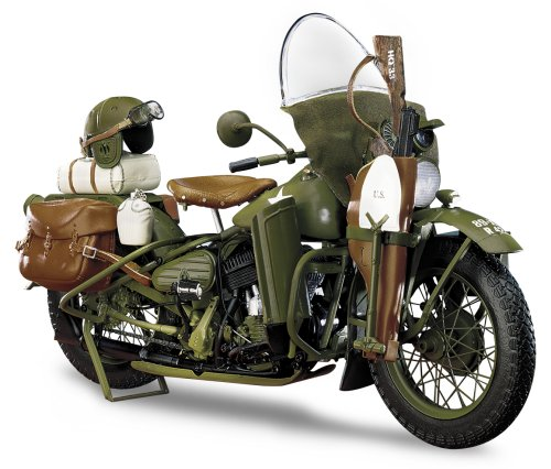 The Franklin Mint The 1942 Harley Davidson WLA Military Motorcycle in Green