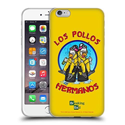 Head Case Designs Licenza Ufficiale Breaking Bad Los Pollos Hermanos 10imo Anniversario Cover in Morbido Gel Compatibile con Apple iPhone 6 Plus/iPhone 6s Plus