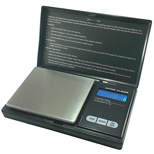 Digitale weegschaal M-200 van DIPSE - Digitale precisieweegschaal/zakweegschaal tot 200 g in stappen van 0,01 g 600g x 0,1g zilver