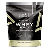 Amazon-Marke: Amfit Nutrition Advanced Whey Protein Eiweißpulver mit Vanillegeschmack, 32 Portionen, 992 g