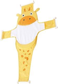 NUOBESTY Rede de suporte para assento de banho de bebê recém-nascido com desenho fofo para banheira e chuveiro de malha pa...