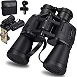 20x50 Roof Prism Binoculars for Adults, HD Professional Binoculars for Bird Watching Travel Stargazing Hunting Concerts Sports-BAK4 Prism FMC Lens-with Phone Mount Strap Carrying Bag (Black)