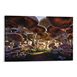 Lienzo artístico para pared, diseño de setas, 23 unidades, para decoración del hogar, a prueba de agua, 60 x 90 cm