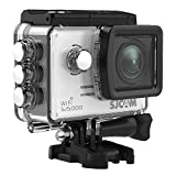 SJCAM SJ5000 WIFI Action Camera 14MP Ultra HD Waterproof Underwater 1080p Camera Large Screen Wide Angle Sports DV Camcorder for Diving Swimming Surfing Biking Wifi Cam- Silver