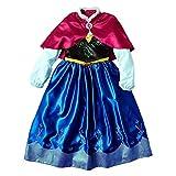 Disney Disfraz de Frozen Anna para niña grande (pequeña)