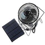 Nuzamas - Ventilador solar de 3,5 W 6 V para camping, caravana, yate, invernadero, casa de perro, pollo, casa ventilador