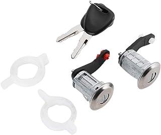 Türschloss Laufsatz, ABS Material Links Rechts Türschloss Zylinder mit 2 Schlüsseln Passend für Master 1998 7701470944 7701470945