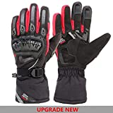 Guantes de Invierno cálidos para Motocicleta Pantalla táctil Guantes de Invierno Impermeables a Prueba de Viento para Hombres Guantes Moto Luvas-Upgrade Glove Red-XL