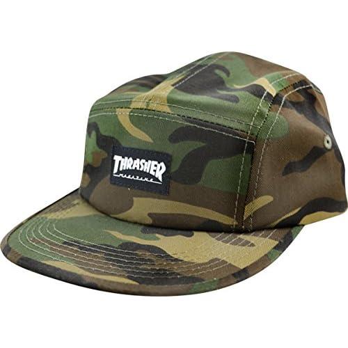 877d60662511e Amazon.com  Thrasher Magazine Mag Logo Camo 5 Panel Hat - Adjustable   Clothing