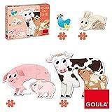 Goula- Mamás y Bebés Puzzles XXL, Multicolor (53175)