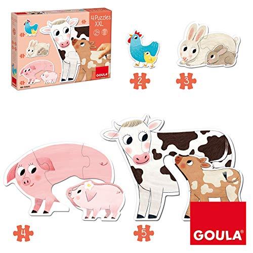 Goula- Mamás y Bebés Puzzles XXL, Multicolor (53175) (Juguete)