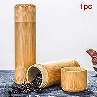 WSDF Boîte à thé en Bambou Naturel avec Couvercle