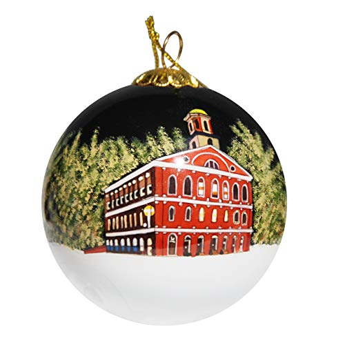 Art Studio Company Hand Painted Glass Christmas Ornament - Faneuil Hall Boston Massachusetts