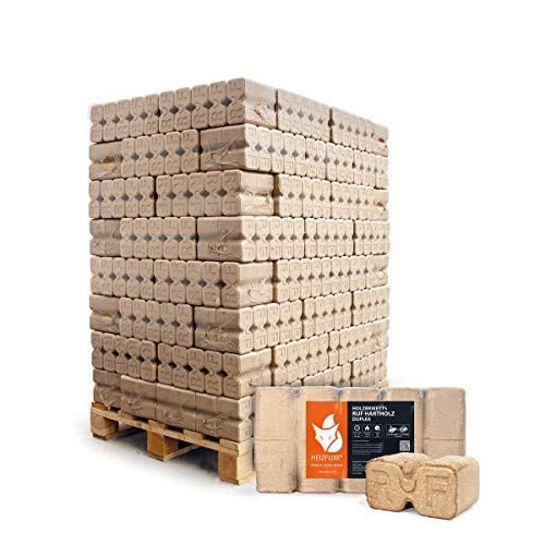 PALIGO Holzbriketts Ruf Duplex Hartholz Eiche Kamin Ofen Brenn Holz Heiz Brikett 10kg x 96 Gebinde 960kg / 1 Palette Heizfuxx