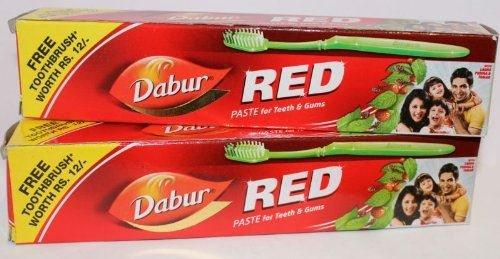 Dabur Red Zahnpasta mit Gratis Zahnbuerste - 200ml