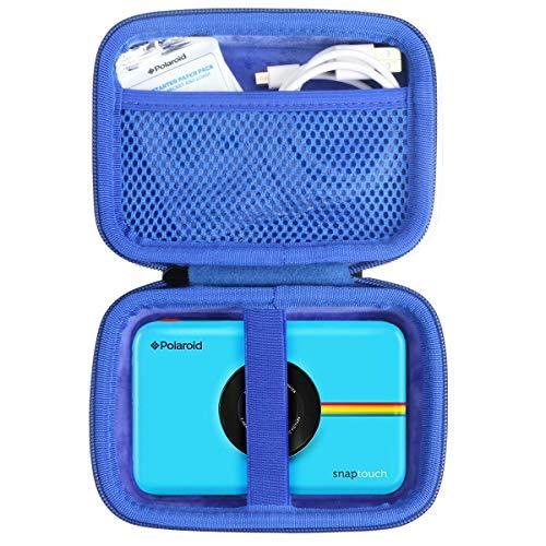 Khanka Hart Tasche für Polaroid SNAP Touch 2.0 / Schnappschuss/Snap Digitale Instant Kamera Sofortdruck Digitalkamera Sofortbildkamera Case.(Blau Reißverschluss)