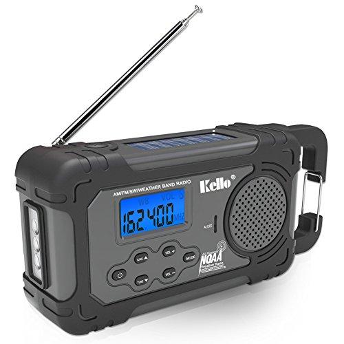 Emergency Solar Hand Crank Portable Radio, NOAA Weather...