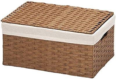 ちどり産業(Tidorisangyou) バスケット カフェブラウン S: W33×D23×H15cm、L: W38×D27.5×H18cm