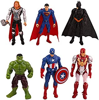 12pc//Set Marvel Avengers DC Comics Figures Cake Toppers Hulk Kids Toy Gift