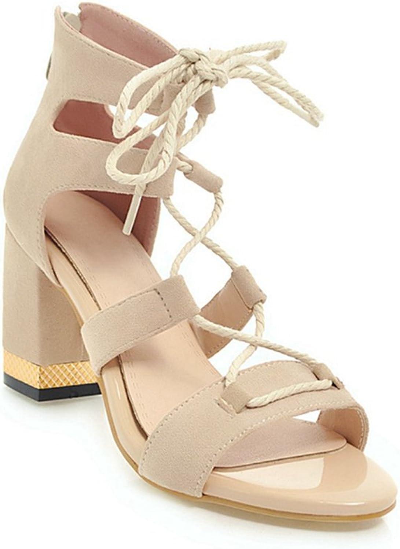 GIY Women's Peep Toe Strappy Gladiator High Heel Sandals Chunky Block Heel Caged Pump Dress Sandals