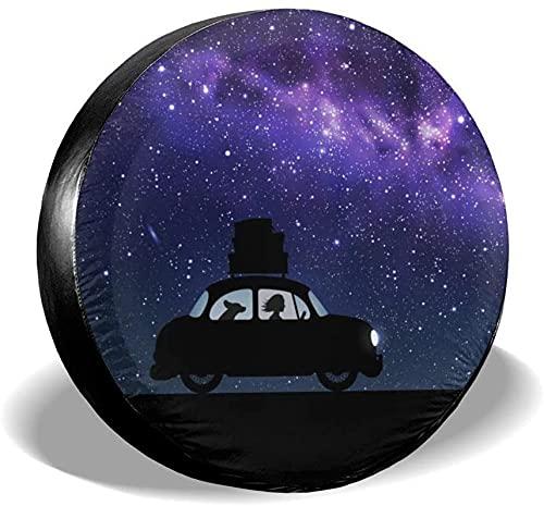 Cubierta de neumático de repuesto,poliéster Universal de 16 pulgadas Cubierta de neumático de rueda de repuesto para remolques,vehículos recreativos,SUV,ruedas de camiones,camiones,caravanas,accesori