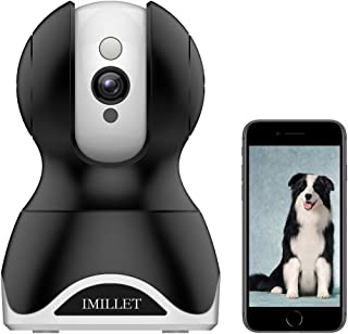 Best WiFi Pet Camera IMILLET Dog Camera with Phone App FHD Indoor Cat Camera Pet Monitor Night Vision 2 Way Audio Motion Detection (Black) Review
