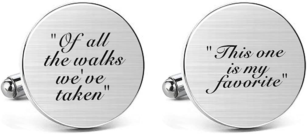 Jacksonville Mall MUEEU Groom Wedding Cufflinks Engraved of All New product type We The Walks Have