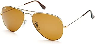 Ray-Ban Sunglasses, Aviator Frame, Size 62, Brown, RB3025 001/33