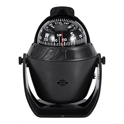 Alomejor Bootskompass Nachtsicht LED-Licht Kompass Elektronischer Kugelkompass für Auto Sea Marine Boat