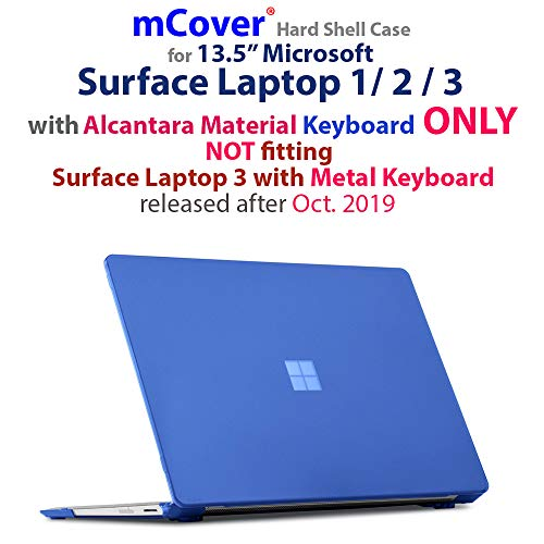 iPearl mCover Hard Shell Case for 13.5-inch Microsoft Surface Laptop (3/2 / 1) Computer (NOT Compatible with Surface Book and Tablet) (Blue)