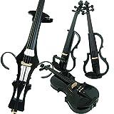 Aliyes Wood Electric Violin Full Size 4/4 Intermediate-A Electric Silent Carbon Fiber Violin