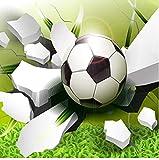 Equipo de vida Mural Personalidad Creativo Fútbol roto Papel tapiz de dibujos animados en 3D Habitación de los niños Decoración interior simple y moderna Murales fotográficos Papel tapiz Lienzo Mur