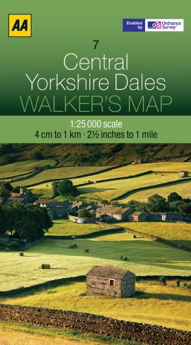 Central Yorkshire Dales (Walker's Map) [Idioma Inglés]