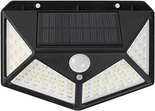 100 Led Solar Motion Sensor Lights Outdoor, JOYWAY-Blue carbon Wireless Weatherproof Solar Powered Lights for Steps Yard G...
