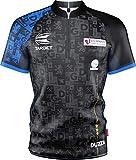 Target Darts Coolplay - Camiseta de Dardos para Hombre, sin Cuello Glen 'Duzza' Durrant Pro, Unisex Adulto, Camiseta Deporte, 150382, Azul y Negro, XL