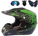 SSIC-Motocross MX - Casco de motocross, casco de ciudad, casco de motocross, casco para adultos, con gafas