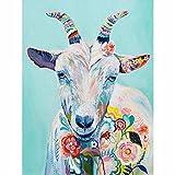 JRGGPO Kit de Pintura de Diamante 5D DIY Pintura Colorida Cabra Bordado Punto de Cruz Mosaico decoración del hogar 40x50cm