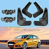 BTSDLXX 4 Pcs Set Coche Guardabarros para Ford/Focus 3 Mk3 Hatchback 2011-2018, Delanteros Traseros Goma Barro Aletas Protectores contra Salpicaduras Accesorios