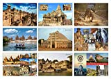 High Definition Digital Prints on Premium Quality Art Paper Set of 9 Postcard Madhya Pradesh (Heart of India) Perfect for Gifting Can be used as a Greeting/Bookmark Size : 6x4 Inch