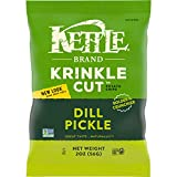 Kettle Brand Potato Chips, Krinkle Cut Dill Pickle Kettle Chips, 2 Oz (Pack of...