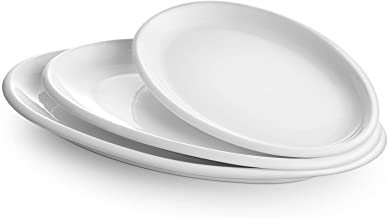 DOWAN Large Serving Platters, 16/14/12 Inches Oval Serving Platters, Oval Serving Plates Dinner Plates Serving Dishes, Ide...