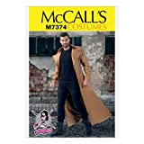 McCall's Patterns M7374 Collared & Seamed Coats, MQQ (46-48-50-52)