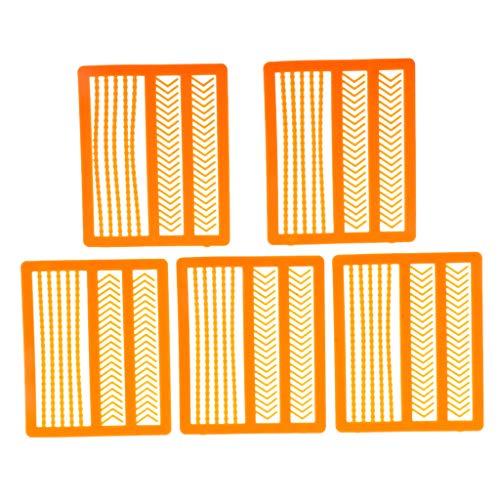 F Fityle 5 Stück Plastik Boilie Stopper Karpfen Angeln Pellets Bands Köder Stopper Orange