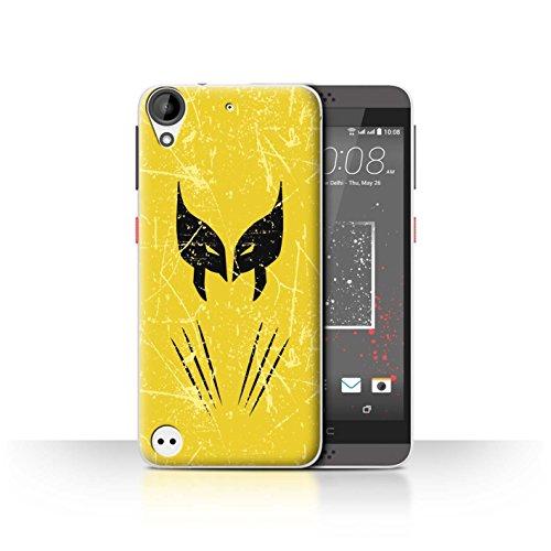 Hülle Für HTC Desire 630 Antiheld Comic-Kunst Wolverine Inspiriert Design Transparent Ultra Dünn Klar Hart Schutz Handyhülle Case