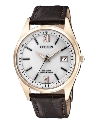 CITIZEN Herren Analog Solar Uhr mit Leder Armband AS2053-11A