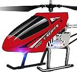 WANIYA1 Rc Helicóptero DIRIGIÓ Al aire libre 2. 4 GHz Regalos de helicóptero de control remoto súper grande 3.5 canales Anti-Collision Gyro Radio controlado Heli Principiante for niños Niños y adultos