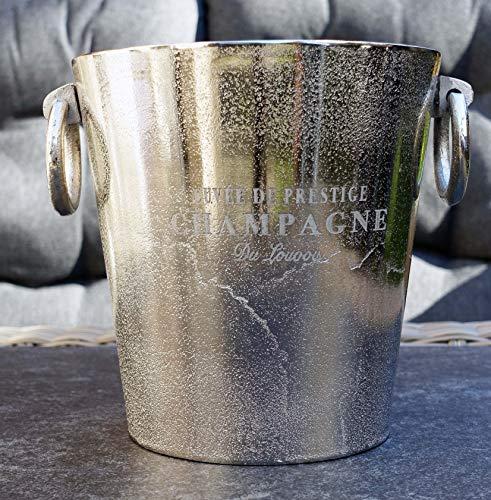 Michael Noll - Secchiello per champagne, in alluminio, argento, S, M, L, 20 cm, 23 cm, 32 cm (23 x 19,5 x 20)